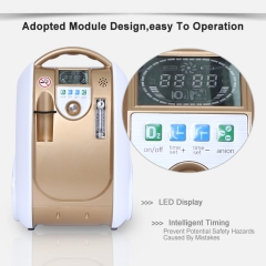 Medical Portable O2 Concentrators Continuous Flow , Golden Yellow Oxygen Concentrator Price